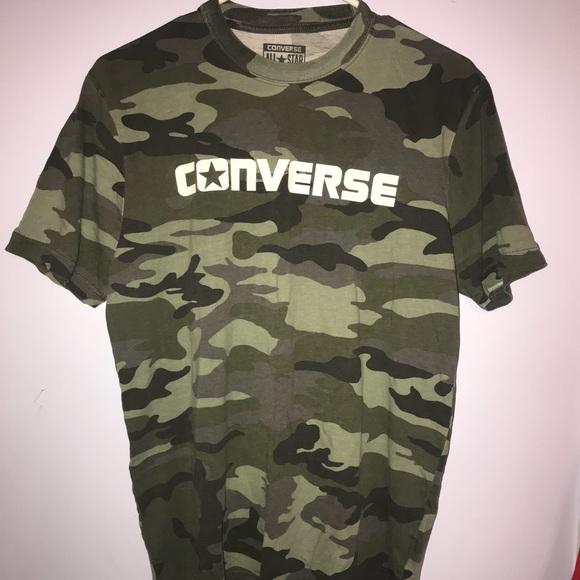 fbe266ab3ae16f Converse Tops - Converse All Star camo T-shirt